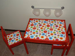 Ikea Children S Table And Chairs Sets Colorful Latt Makeover Ikea Hackers Ikea Hackers