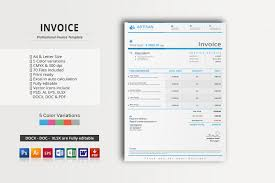 invoice template word psd vector eps and ai format graphic cloud