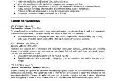 Laborer Resume Samples by Neoteric Ideas Construction Laborer Resume 4 Free Construction