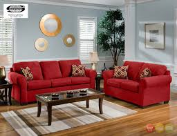 Bright Red Sofa Simple Red Sofa For Living Room With Nice Brown Rugs Red Sofa For
