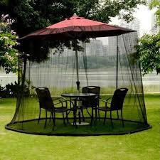 Umbrella Netting Mosquito by 10ft Bug Screen For Outdoor Patio Table Over The Umbrella Cover