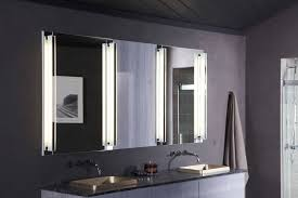 bathroom unique mirrored vanity with lights by robern and towel