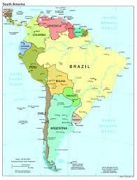 map of america with cities maps of south america and south american countries political