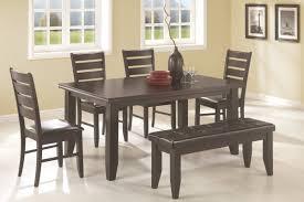modern walnut dining table with bench granite tile floor u2013 mycyfi