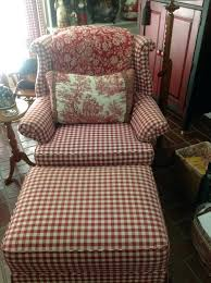 Plaid Ottoman Fancy Chair And Ottoman Checked Chair And Ottoman Plaid