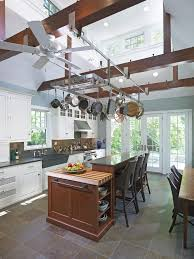 Kitchen Hanging Pot Rack by Transitional Pot Racks And Accessories Kitchen Contemporary With