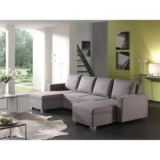 divan canapé canapé d angle panoramique convertible tissu gris volta achat