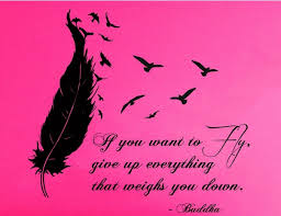 buddha wall decal buddha quote lettering birds flying feather wall