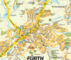 map of germany cities furth map