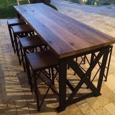 charming outdoor furniture bar table with contemporary high bar