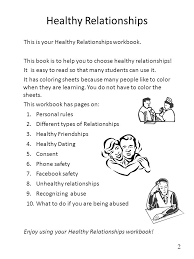 healthy relationships worksheets free worksheets library