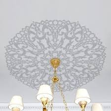 Chandelier Stencils Madison Medallion Stencil Better Than Wallpaper Diy Wall And