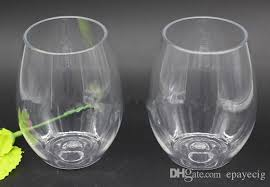 2018 pet plastic wine glasses goblet 300ml 8oz clear stemless wine
