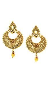 golden earrings buy dg jewels golden earrings online at low prices in india