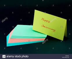 message card for your family and friends happy anniversary stock