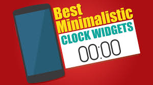 best clock widget for android best 5 minimalistic clock widgets