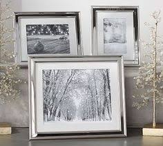 Pottery Barn Picture Frame Silver Picture Frames On Wall With Black And White Family Photos