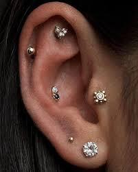awesome cartilage earrings ear piercing ideas mybodiart