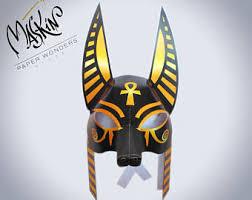 Anubis Halloween Costume Masquerade Mask Etsy