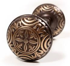 Fleur De Lis Cabinet Knobs Antique Cast Bronze Fleur De Lis Doorknobs U0026 Backplates Signed