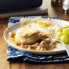 make ahead gravy for thanksgiving make ahead biscuits u0026 gravy bake recipe taste of home