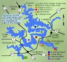 cove lake of the ozarks map missouri fishing guide fishing missouri guide lake of the