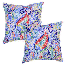 home patterns plantation patterns periwinkle paisley square outdoor throw pillow