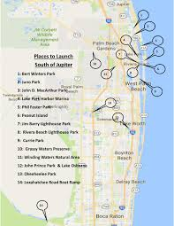 Map Jupiter Florida by John Curtin Home Inspector Where To Kayak And Paddle Board