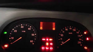 renault trafic service light reset youtube