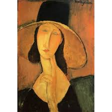 modigliani woman with a fan portrait of a woman with hat by amedeo modigliani oil painting