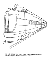 Streamlined Rail Coloring Pages Streamlined Diesel Engine Rail Color Page