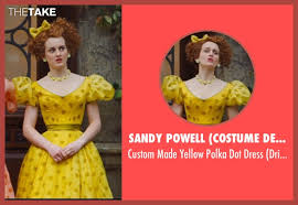 sophie mcshera sandy powell costume designer custom made yellow