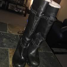 s heeled boots australia uggs australia s tallboots s n 3209 black guc retail 350