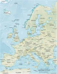 map of eurup map of europe travel europe