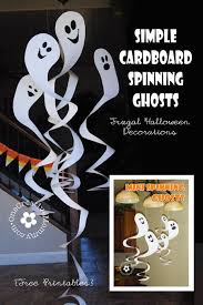 How To Make Little Ghost Decorations Frugal Decorating For Halloween Cardboard Spinning Ghosts