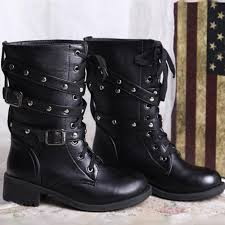 buckle motorcycle boots shoes strass picture more detailed picture about new women pu