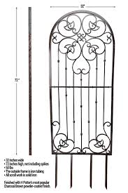 amazon com h potter large garden trellis wrought iron heavy