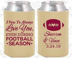 wedding gift koozies i vow to always you even during football season custom