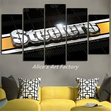 Steelers Home Decor | 5piece painting calligraphy home decor pop wall art picture