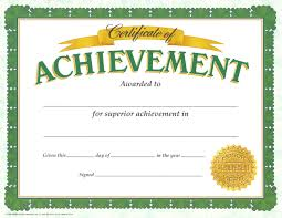 10 best images of achievement certificate middle