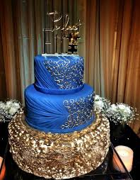 a royal blue u0026 ivory cake for the lovely lavanya for saturday u0027s