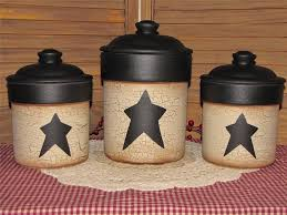 primitive kitchen canisters primitive handpainted stoneware canisters crackled black