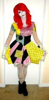 make a sally costume from the nightmare before sally