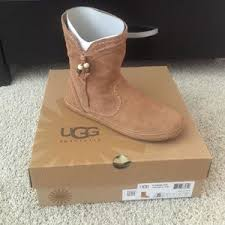 womens ugg moccasin boots ugg nwt ugg moccasin ankle boot in chestnut brown from trisha s