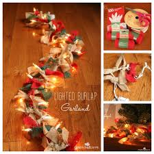 diy lighted burlap garland pictures photos and images for