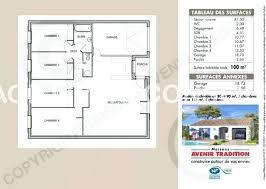plan 4 chambres plain pied plan maison plain pied 4 chambres avec suite parentale plan maison