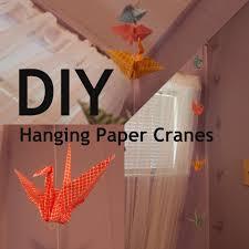 diy hanging paper cranes youtube