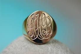 monogram ring gold oval monogram ring dunay joaillier