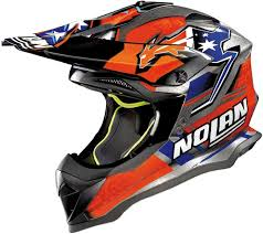 orange motocross helmet nolan n53 stoner practice replica motocross helmet motorcycle