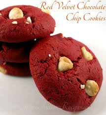 red velvet chocolate chip cookies simple indian recipes